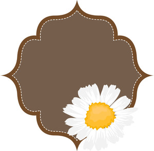 Flower Antique Labels Vector Illustration