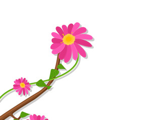 Flower Branch Vector Graphic