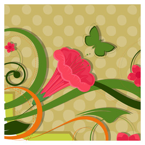 Flower Butterfly Background