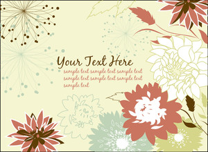 Flower Card Design