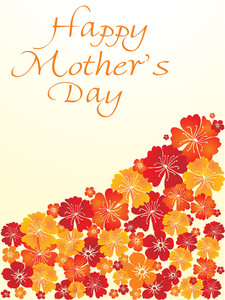 Flower Design Mother Day Card
