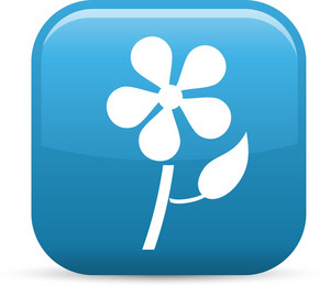 Flower Nature Elements Glossy Icon
