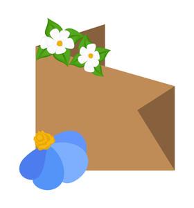 Flower Origami Banner