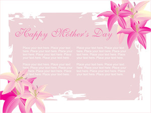 Flower Pattern Frame For Mother Day