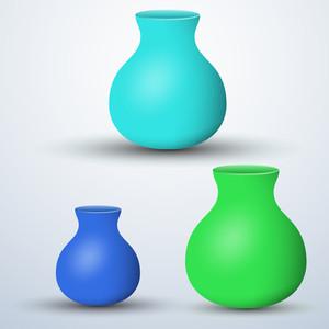 Flower Pots Designs Vectors