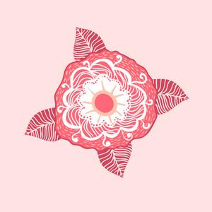 Flower Template Card