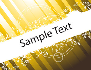 Flower Vector Wallpaper Of Sample Text In Yellow Gradient