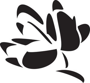 Flower With Leaf.