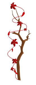 Flowers Branch Vector Design Elements
