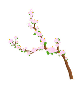 Flowers Branch Vector