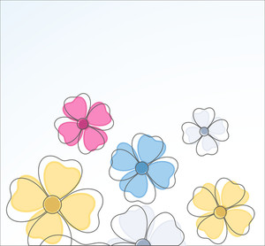 Flowers Drawing Background