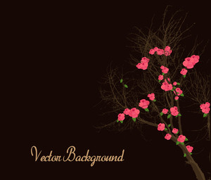 Flowers Tree Background