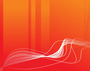 Flowing Abstract Orange Background Of Wave