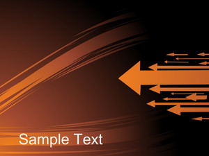Flowing Arrows Background In Orange With Space For Text