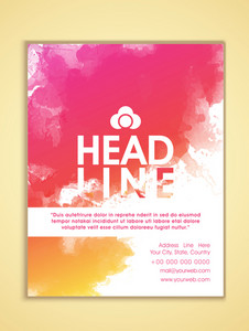 Creative stylish Business Flyer Banner or Template with colorful splash.