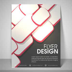Abstract design for business flyers with address bar place holder and mailer.