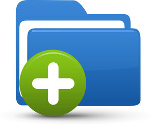 Folder Blue Add Lite Computer Icon