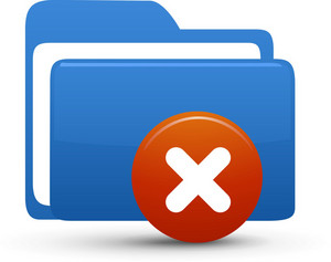 Folder Blue Delete Lite Computer Icon