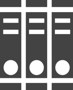 Folder Glyph Icon