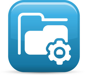 Folder Settings Elements Glossy Icon