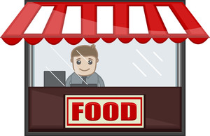 Food Shop - Cartoon Business Vector Character