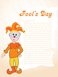 Fools Day Gretting Card With Joker