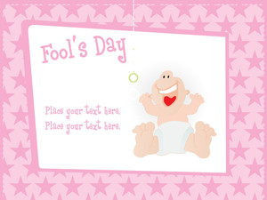 Fools Day Gretting Card