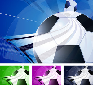 Football Abstract. Vector Template.