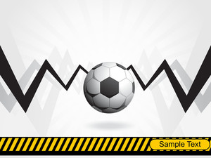 Football Background With Barrier