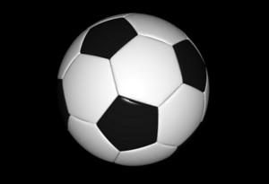 Football Ball On Black