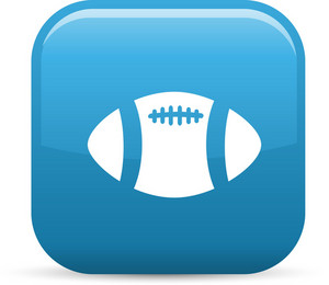 Football Sport 2 Elements Glossy Icon
