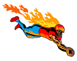 Football Touchdown Flames