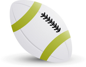 Football White Lite Sports Icon