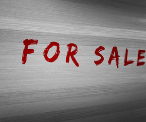 For Sale On Wooden Wall