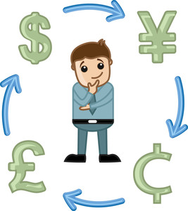 Forex Market - Business Cartoon Vectors