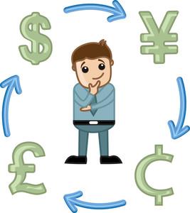 Forex Market - Business Cartoon Vectors
