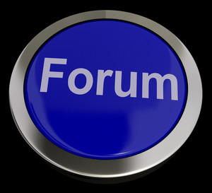 Forum Button For Social Media Community Or Information