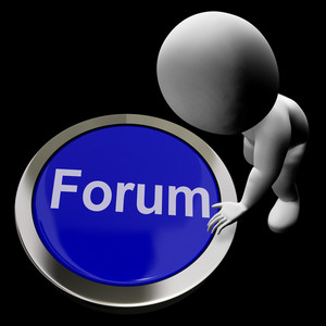 Forum Button Meaning Social Media Community Or Getting Information