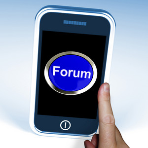 Forum Button On Mobile Shows Social Media Or Information