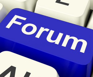 Forum Key For Social Media Community Or Information