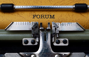 Forum Text On Typewriter