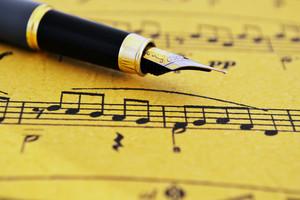 Fountain Pen On Music Sheet