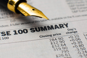 Fountain Pen On Stock Market Report