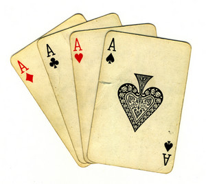 Four Aces (isolated From The Background With A Clipping Path)