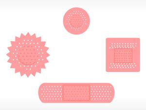 Four Adhesive Plaster Set