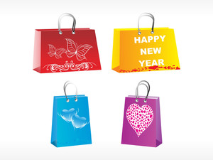 Four Diffrent Designer Bags Vector