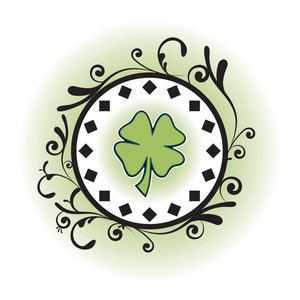 Four Leaf Clover In Decorative Environment