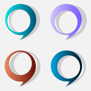 Four Speech Bubbles