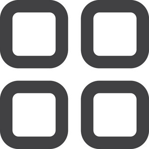 Four Squares Stroke Icon