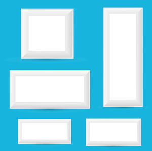 Frame Boxes Vector Set